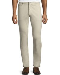 Ermenegildo Zegna - Five-pocket Brushed Cotton Pants - Lyst