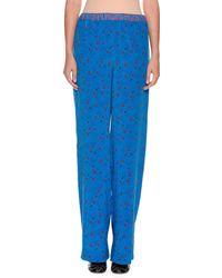 Marni - Wide-leg Printed Silk Pajama Pants - Lyst