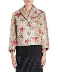 Dries Van Noten - Eyelash-fringe Starfish Pattern Boxy Jacket - Lyst