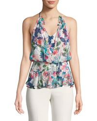 Parker - Creed Combo Floral Silk Top - Lyst