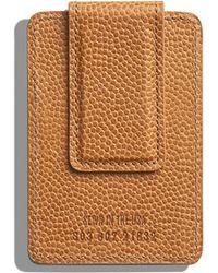 Shinola - Men's Latigo Card Case With Magnetic Money Clip - Lyst