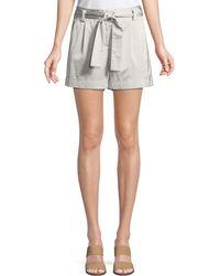 Lafayette 148 New York - Greenpoint Urbane Satin Cloth City Shorts - Lyst