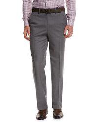 Brioni - Micro-tic Wool Trousers Gray - Lyst