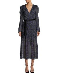 Diane von Furstenberg - Ani Puff Sleeve Wrap Dress - Lyst