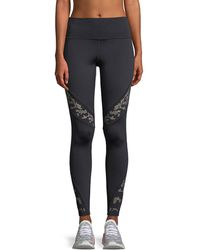Under Armour - Lace Perforated Performance Leggings - Lyst