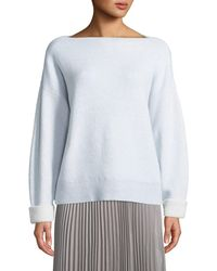 Club Monaco - Donah Cashmere Boat-neck Pullover Sweater - Lyst
