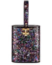 Edie Parker - Oval Glitter Minaudiere Bag - Lyst