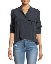 Rails - Rhett Button-front Long-sleeve Pocket Shirt - Lyst