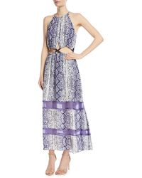 Ramy Brook - Norina Sleeveless Snake-print Silk Maxi Dress - Lyst