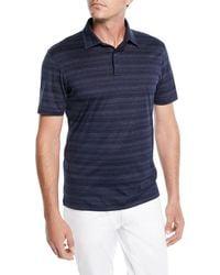 Ermenegildo Zegna - Men's Striped Polo Shirt - Lyst