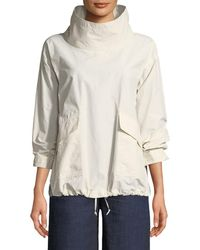 Eileen Fisher - Organic Cotton/nylon Pullover Jacket - Lyst