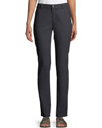 Lafayette 148 New York - Thompson Waxed Denim Slim-leg Jeans - Lyst