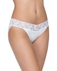 Hanky Panky - Signature Lace Organic Cotton V-kini Panties Basic Colors - Lyst