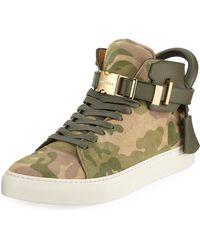 Buscemi | Men's Camo-print High-top Sneaker | Lyst
