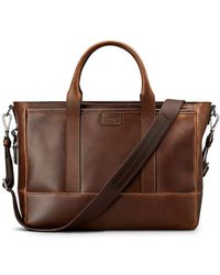 Shinola - Men's Navigator Leather Briefcase Tote Bag - Lyst