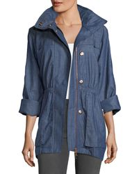 Raison D'etre - Denim Anorak Coat - Lyst