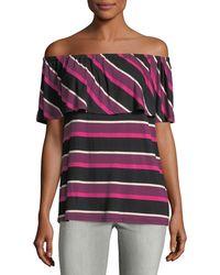 Kensie | Striped Off-the-shoulder Top | Lyst