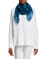 Eileen Fisher - Mixed-stripe Organic Linen/cotton Wrap - Lyst