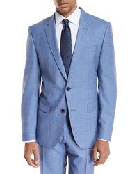 BOSS - Melange Wool Two-piece Suit - Lyst