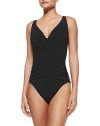 Shan - Serena Solid One-piece Swimsuit - Lyst