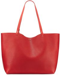 The Row - Park Lux Grained Leather Shopper Tote Bag - Lyst