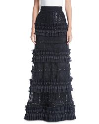 Alice + Olivia - Samia Pleated Tier Ball Gown - Lyst