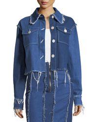 Rejina Pyo - Tessa Button-front Frayed Denim Jacket - Lyst