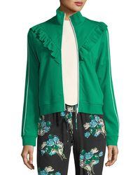 RED Valentino | Ponte Jersey Ruffle-trim Jacket | Lyst