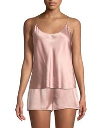 La Perla - Silk Scoop-neck Lounge Tank - Lyst