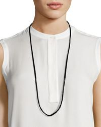 Eileen Fisher | Glass-beaded Ribbon Necklace | Lyst