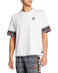 bf895ee926bd4 Lyst - adidas Originals X Pharrell Williams Hu Hiking Trefoil Logo T ...