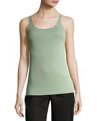Eileen Fisher - Scoop-neck Stretch Silk Jersey Cami - Lyst