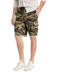 Vince - Camouflage-print Cargo Shorts - Lyst