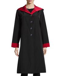 Jane Post | Hooded Button-front Reversible Coat | Lyst