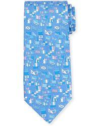Ferragamo - Sailboat-print Silk Tie - Lyst