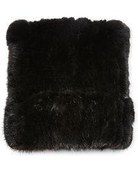Belle Fare - Mink Fur Knitted Beanie Hat - Lyst