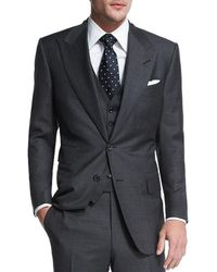 Tom Ford - Windsor Base Sharkskin Three-piece Suit - Lyst