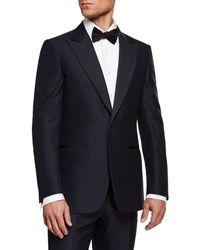 Ermenegildo Zegna - Men's Peak-lapel Wool Two-piece Tuxedo Suit - Lyst