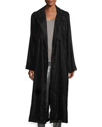 RTA - Karina Long-sleeve Velvet Robe Duster - Lyst