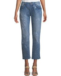 ESCADA - Five-pocket Straight-leg Jeans W/ Sequin Detailing - Lyst