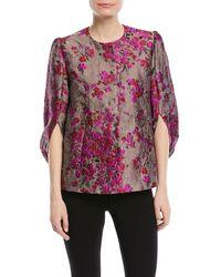 Co. - Metallic-jacquard Kimono-sleeve Snap-front Jacket - Lyst