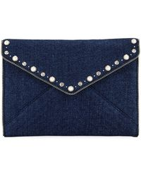 Rebecca Minkoff - Leo Pearly Envelope Clutch Bag - Lyst
