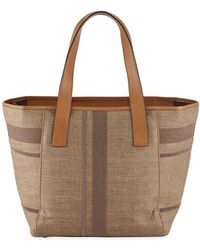 Brunello Cucinelli - Linen And Monili Tote Bag - Lyst