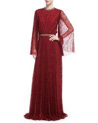 Sachin & Babi - Vidya Long-sleeve Embellished Lace Gown - Lyst