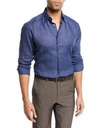 Brioni - Linen Sport Shirt - Lyst