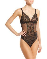 Maison Lejaby - Miss Lejaby Sheer Lace Bodysuit - Lyst