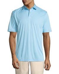 Peter Millar - Featherweight Melange-stripe Polo Shirt - Lyst