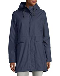 French Connection - Hooded Zip-front Raincoat - Lyst