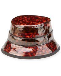 Givenchy - Tortoise Vinyl Camper Hat - Lyst