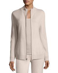 Neiman Marcus - Cashmere Zip-front Jacket - Lyst